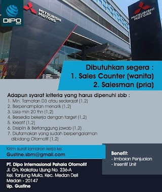 Sales di PT Dipo Internasional Pahala Otomotif
