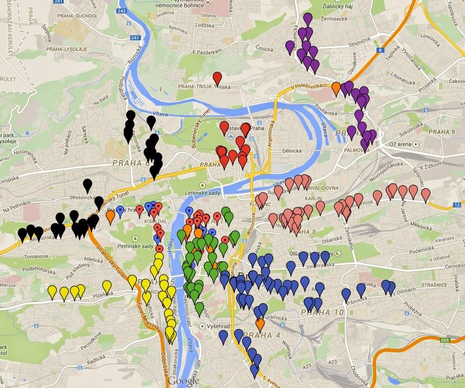 prága térkép Csehország, nem csak Prága!: A Prágai kocsmakalauz térképen – Kész  prága térkép