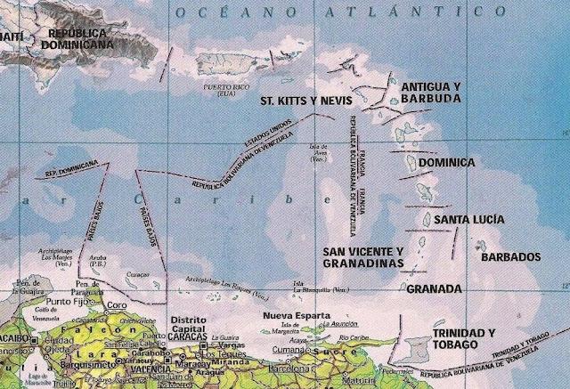 mapa del caribe isla de aves