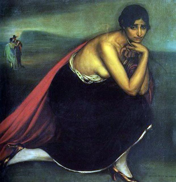 Celos, Julio Romero de Torres, Maestros españoles del retrato. Pintores españoles, Retratos de Julio Romero de Torres, Pintores Cordobeses