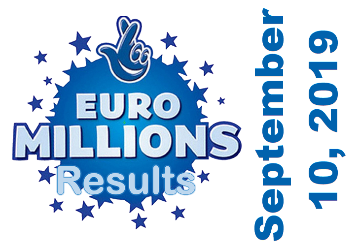EuroMillions results for Tuesday, September 10, 2019
