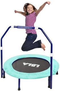 LBLA Mini Trampoline for Kids; LBLA Trampoline; Portable Kids Trampolines; Indoor/Outdoor BEST BIRTHDAY GIFTS FOR KID; jumping;