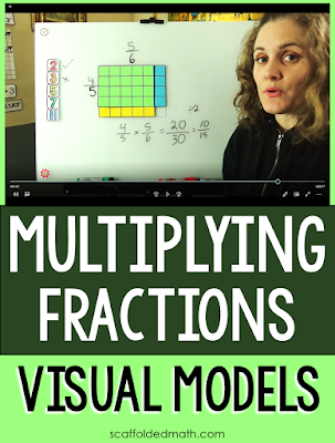 A few weeks ago I blogged about a few digital fraction multiplication resources for Google. In this post I want to share a multiplying fractions with visual models video.    I've been building a visual math playlist on my YouTube channel with videos for fraction multiplication and division, solving equations, ways to use algebra tiles, strategies for tackling integers, etc. I have a lot of videos planned to add-- prime numbers, even and odd, more to go along with my free math cheat sheets.... it's been a lot of fun.