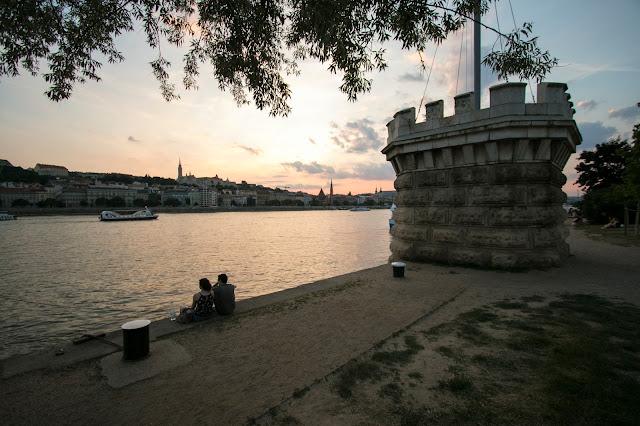 Tramonto lungo il Danubio-Budapest