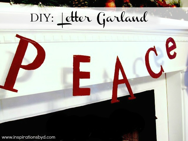 How to Make a Letter Garland