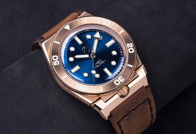 H2O Watch - H2O Tiburon Bronze with Blue Dial