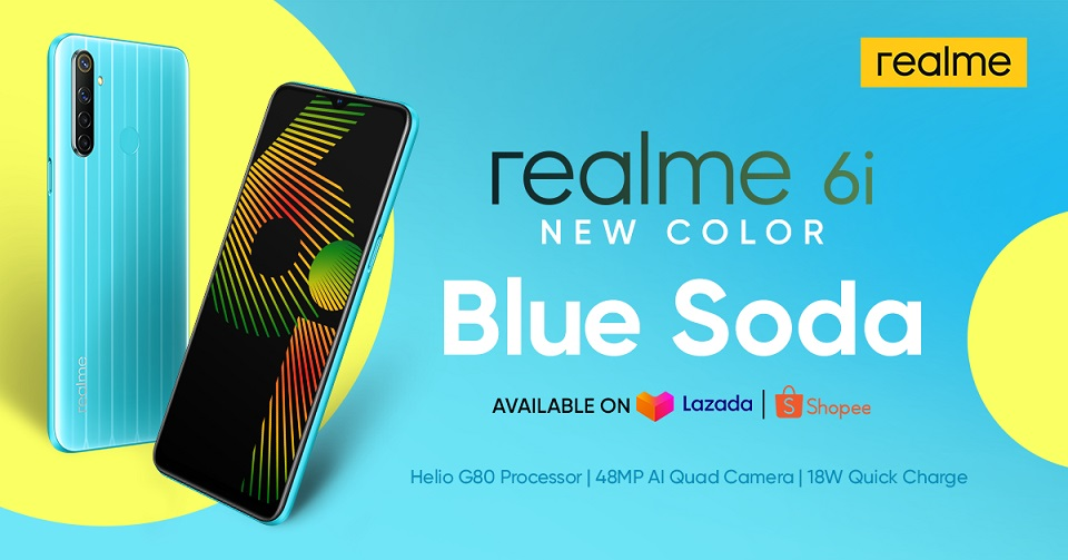 realme 6i in blue soda