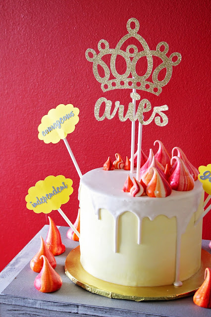 Birthday cake for Aries birthday party by Fizzy Party