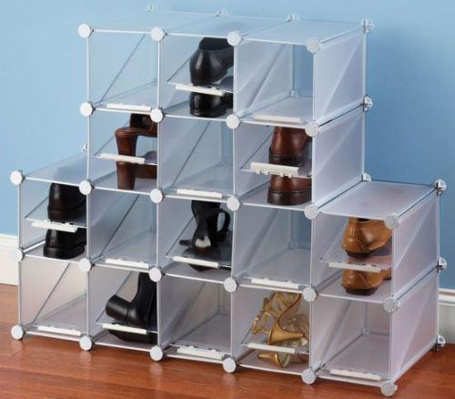 Desain Lemari Sepatu Informa berbahan kaca