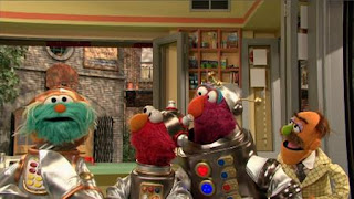 Rosita, Telly, Elmo, Sesame Street Episode 4406 Help O Bots, Help-O-Bots season 44