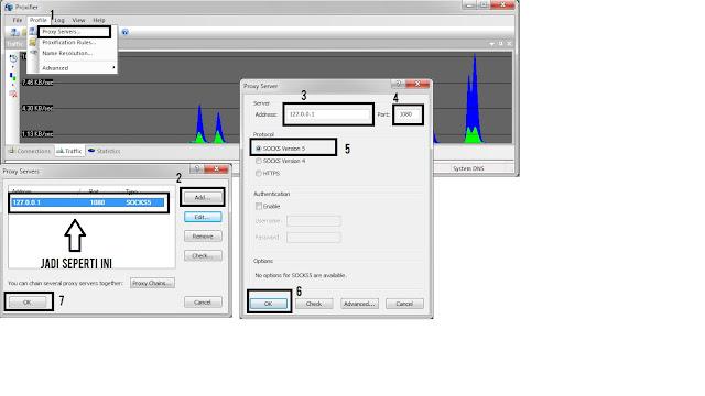 cara setting bitvise dan proxifier yang benar telkomsel terbaru inject tanpa ke atau menggabungkan ssh client tutorial dengan lengkap untuk