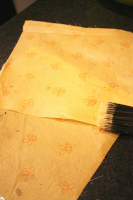 making beeswax food wrap