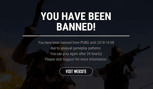 how to get unban in pubg