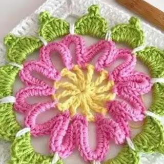 Granny Flor Central a Crochet