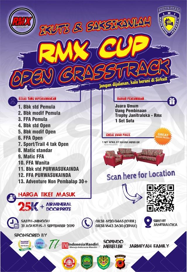 RMX CUP Open Grasstrack pada 31 Agustus - 1 September 2019
