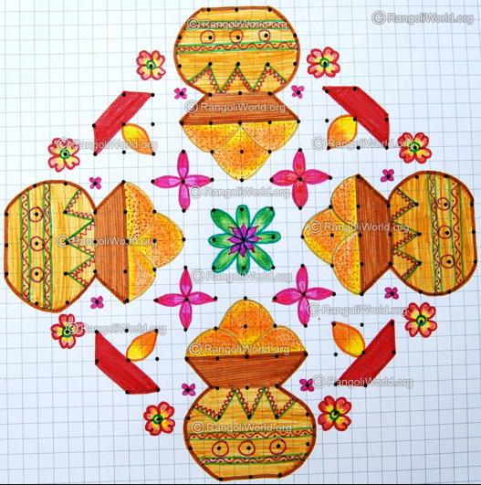 rangoli kolam designs for pongal 2016