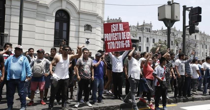 PARO DE TAXIS COLECTIVOS: Manifestación para este viernes 29 de noviembre no cuenta con autorización, informó el MININTER