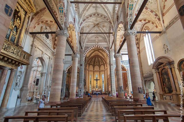Iglesia Santa Anastasia Verona visitar ciudad monumental Italia