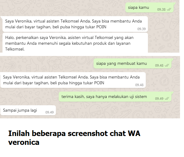 Kumpulan chat WA veronica