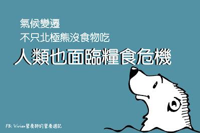 Vivian營養師【食事趨勢】氣候變遷不只北極熊沒食物吃,人類也面臨糧食危機