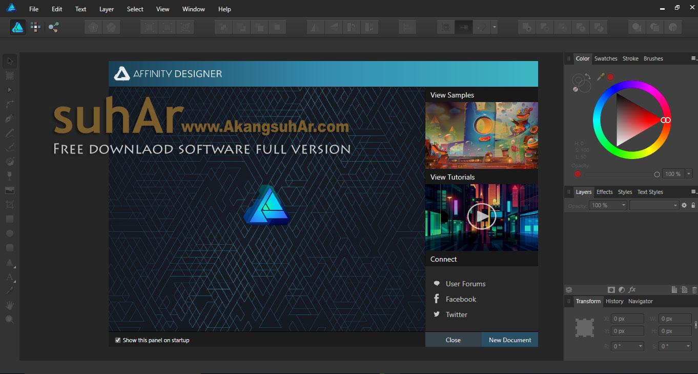Free download Serif Affinity Designer Full Version terbaru