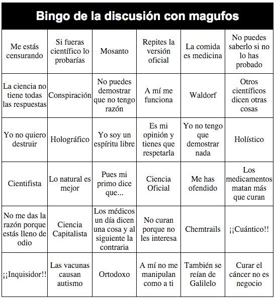 Resultado de imagen de bingo de ciencias