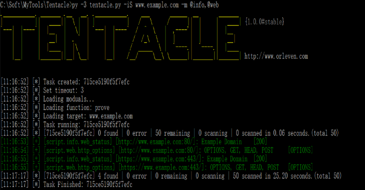 Tentacle : A POC Vulnerability Verification & Exploit Framework