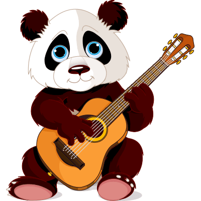 Guitar panda emoticon