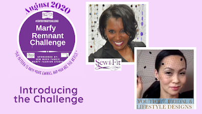 #sewtofitmarfychallenge, youtube video thumbnail with ann @youtiquebridal and andrea @sewtofit