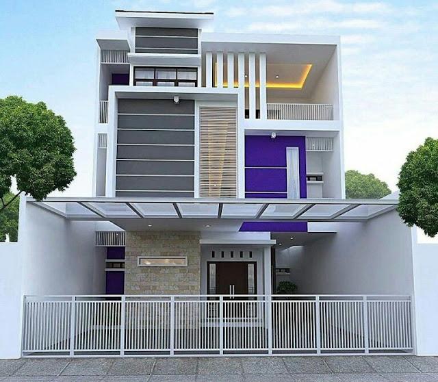 Minimalist House 2 Floor Full Fence