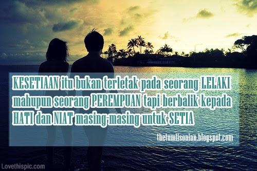Gambar Foto DP BBM Setia sama Pacar Tercinta