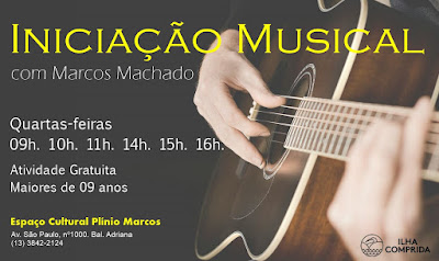 Oficina de Iniciação Musical com Marcos Machado tem inscrições abertas na Ilha