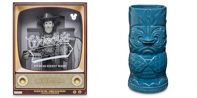 Talking Woody Doll and Tiki Crew Mug From 2019 D23 Expo