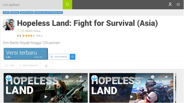 Cara Download Hopeless Land: Fight for Survival (Asia) untuk Android Terbaru 2019
