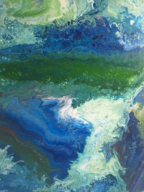 Maru Prats arte abstracto acrílico lienzo Aqua