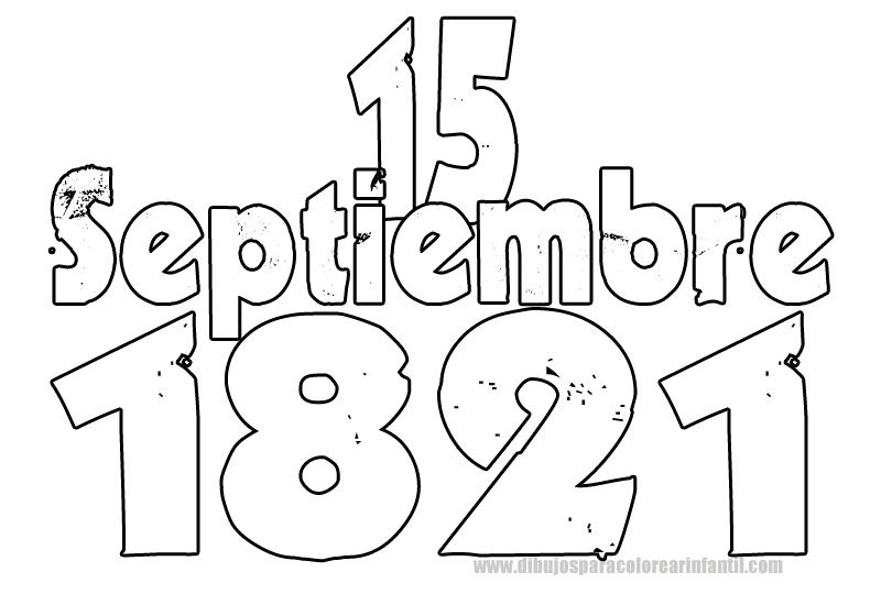 15 De Septiembre Para Colorear Imagui