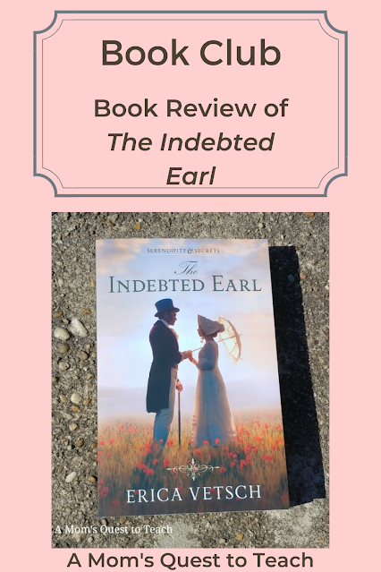 Text: Book Club: Book Review of The Indebted Earl; book cover of The Indebted Earl