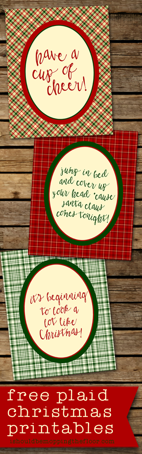 Free Plaid Christmas Printables | Three 8x10 Designs | Instant Downloads