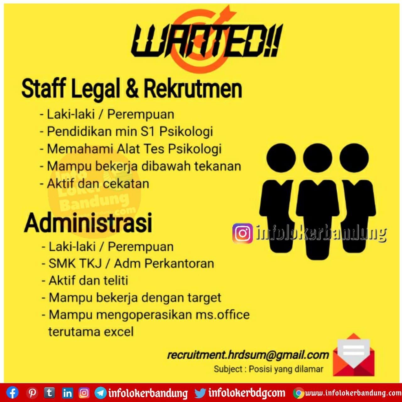 Lowongan Kerja PT. Suraya Usaha Mandiri Bandung Januari 2021