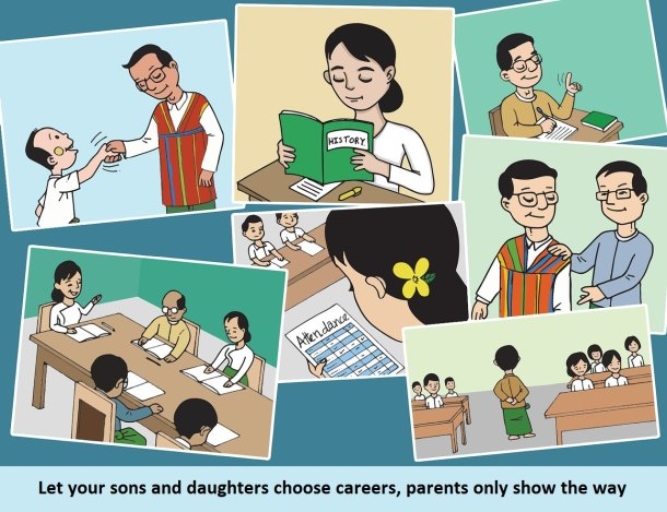 Let your sons and daughters choose careers, parents only show the way