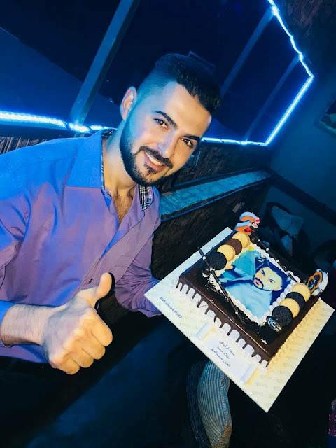 الفنان الاردني محمد المهر يحتفل بعيد ميلاده وسط اهل الفن