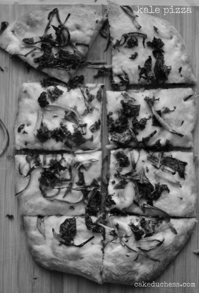 Kale and Red Onion Pizza