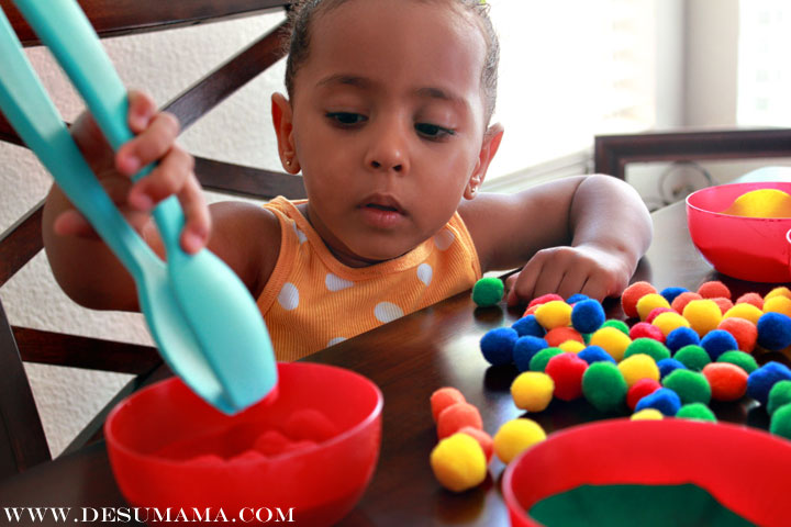 Color Sorting And Fine Motor Skills School At Home De