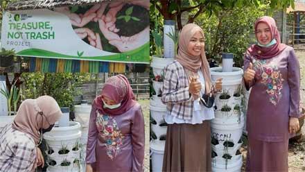 Ketua HKTI Pariaman Apresiasi Lisa Sukses dengan Organic Tower Garden