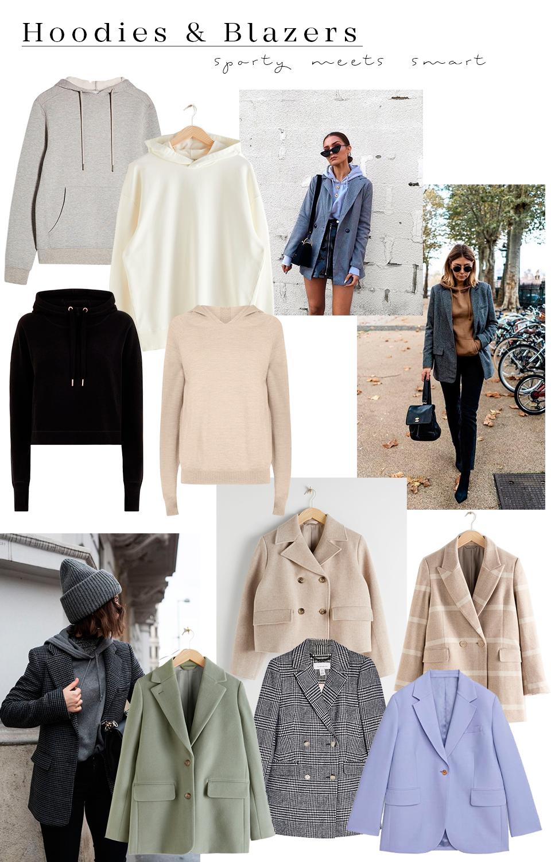 Outfit inspiration: hoodies and blazers - Muoti-inspiraatio: bleiserit ja hupparit