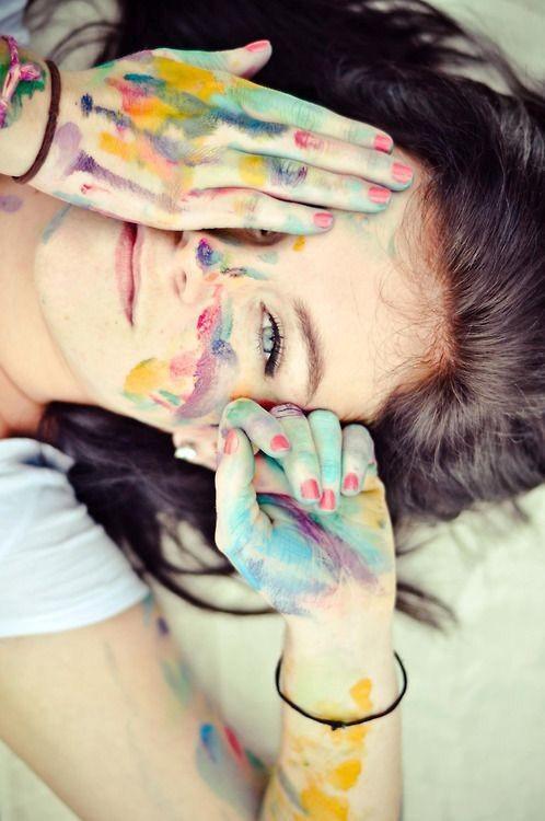 paint girl dp