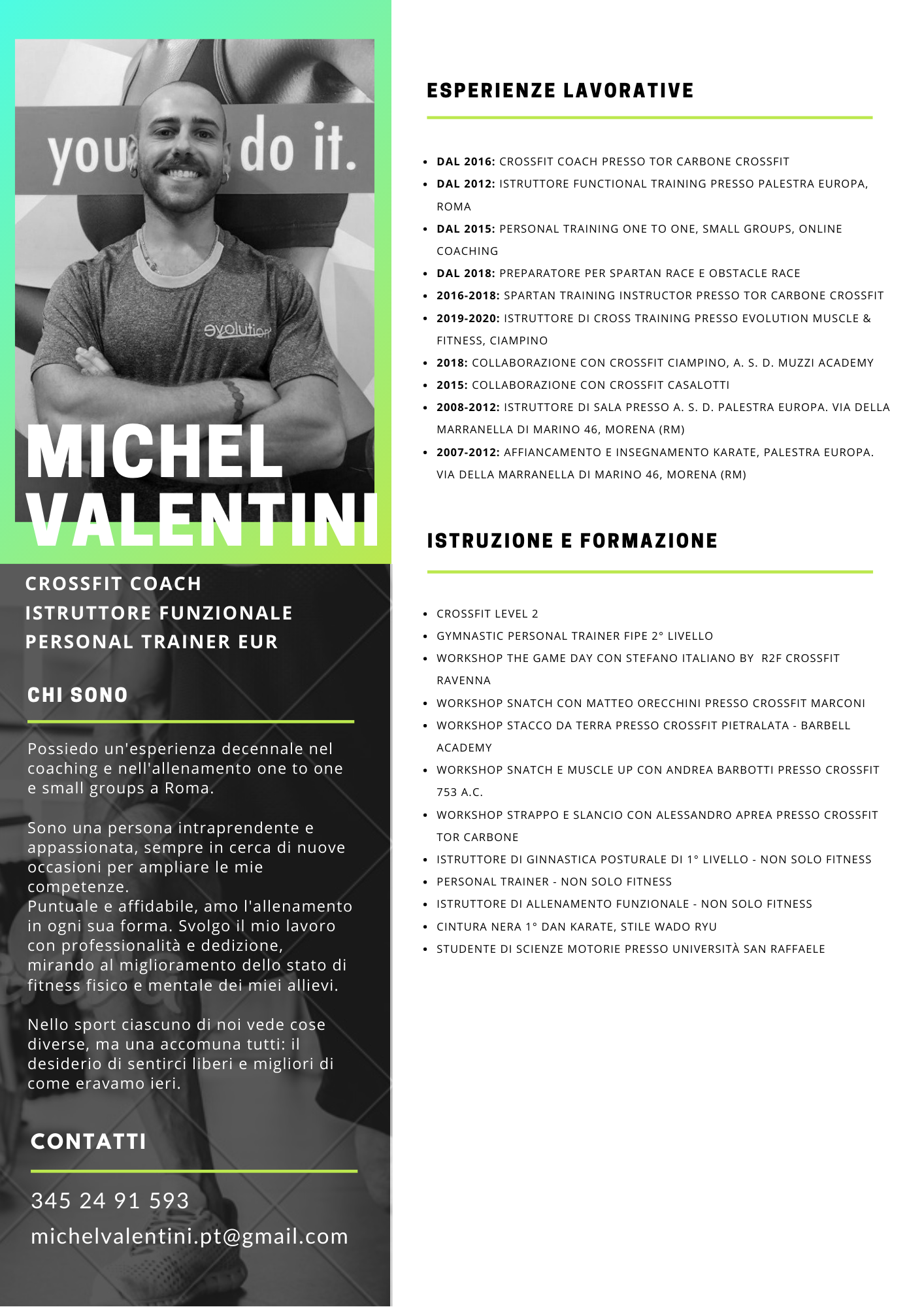 Michel Valentini | Personal Trainer Eur