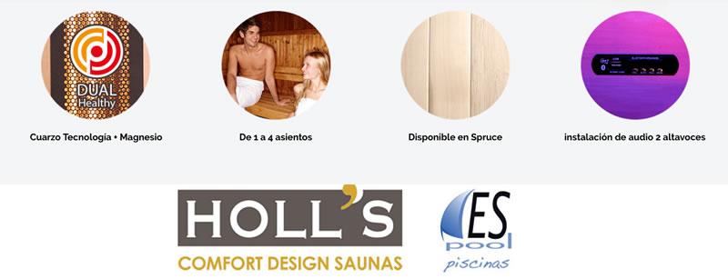Sauna Venus de Holl´s - De venta en Espool Piscinas