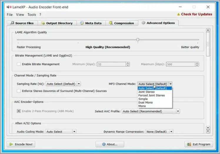 LameXP :  Μετατρέψετε αρχεία ήχου σε οποιαδήποτε μορφή