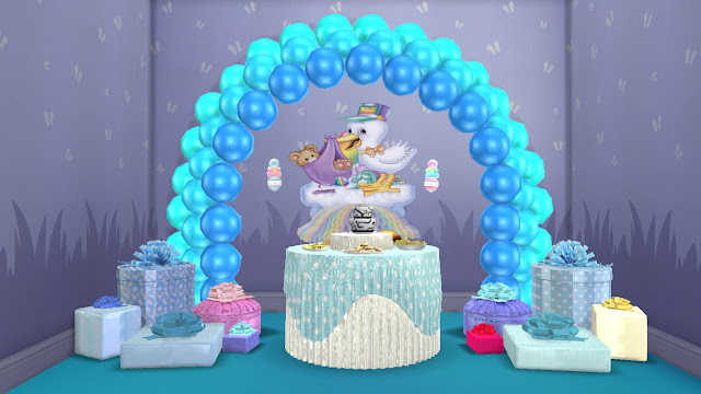 Sims 4 Bundle Of Joy Baby Shower Party Items Set